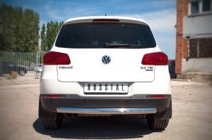 VolksWagen Tiguan Sport and Style защита заднего бампера d76  VGZ-000986